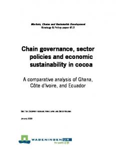 Chain governance, sector policies and economic ... - MFE.be