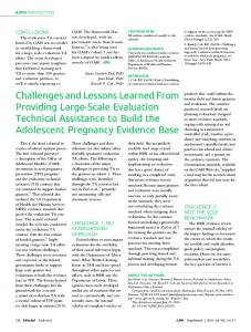 Challenges and Lessons Learned From Providing Large-Scale ...