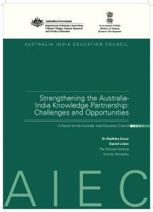 Challenges and Opportunities - Australia India Education Council