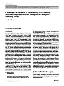 Challenges and successes in implementing active ...