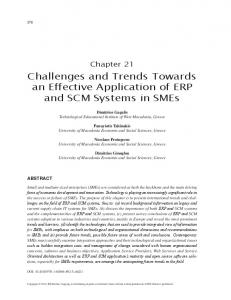 Challenges and Trends Towards an Effective Application of ERP and ...