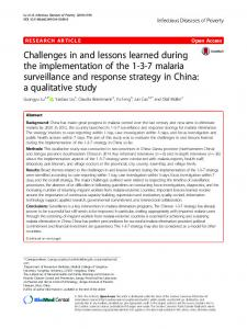 Challenges in and lessons learned during the ... - Springer Link