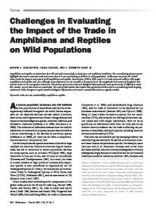 Challenges in Evaluating the Impact of the Trade in ... - Save the Frogs