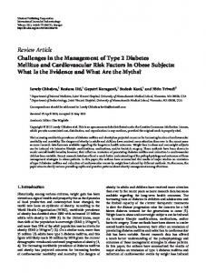Challenges in the Management of Type 2 Diabetes Mellitus and ...