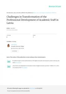 Challenges in Transformation of the Professional