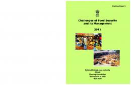 Challenges of Food Security & its Management - NRAA