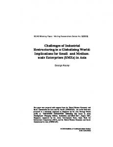 Challenges of Industrial Restructuring in a Globalizing