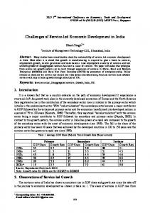 Challenges of Service-led Economic Development in India - ipedr