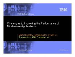Challenges to Improving the Performance of ...