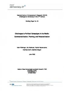 Challenges to Political Campaigns in the Media ... - NCCR Democracy