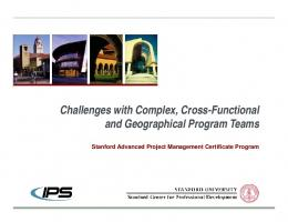 Challenges with Complex, Cross-Functional and Geographical ...