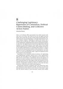 Challenging Legitimacy: Repertoires of Contention, Political Claims ...