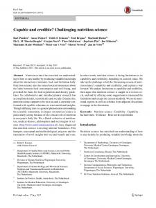 Challenging nutrition science - de vries nutrition solutions