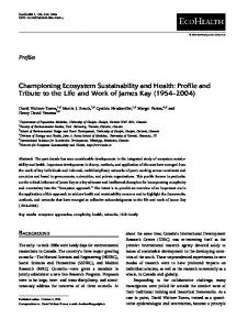 Championing Ecosystem Sustainability and Health - Springer Link