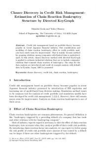 Chance Discovery in Credit Risk Management: Estimation of Chain ...