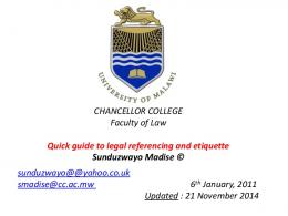 CHANCELLOR COLLEGE Faculty of Law Quick guide ... - SSRN papers