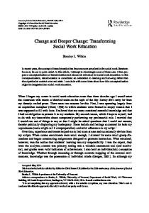 Change and Deeper Change: Transforming Social ...