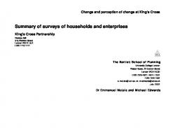 Change and perception of change at King's Cross - UCL Discovery