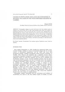 change in population and land-use intensities in several ... - CiteSeerX