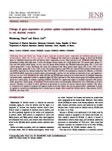 Change of gene expression on protein uptake composition and