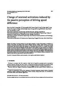 Change of neuronal activations induced by the ... - Semantic Scholar