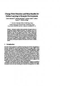 Change Point Detection and Meta-Bandits for ... - Semantic Scholar