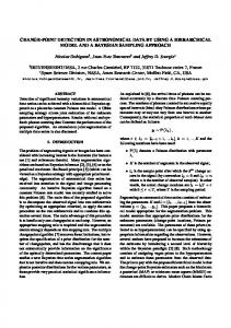 Change-point detection in astronomical data by using a hierarchical ...