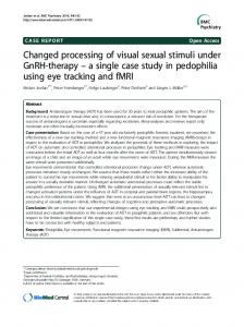 Changed processing of visual sexual stimuli under ... - Semantic Scholar