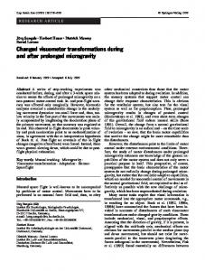 Changed visuomotor transformations during and after ... - Springer Link