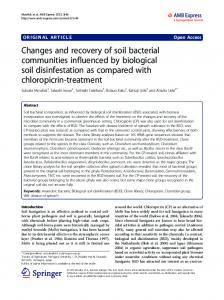 Changes and recovery of soil bacterial communities ... - Springer Link