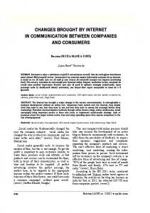 changes brought by internet in communication between companies ...