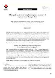 Changes in anatomical and physiological ... - Tubitak Journals