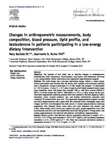 Changes in anthropometric measurements, body composition, blood ...