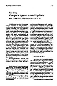 Changes in Appearance and Psychosis