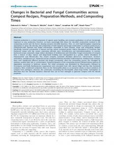 Changes in Bacterial and Fungal Communities across ... - Noah Fierer