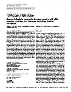 Changes in bacterial community structure correlate with initial ...