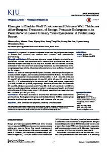 Changes in Bladder Wall Thickness and Detrusor Wall Thickness After ...