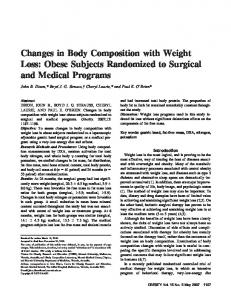 Changes in Body Composition with Weight Loss - Wiley Online Library
