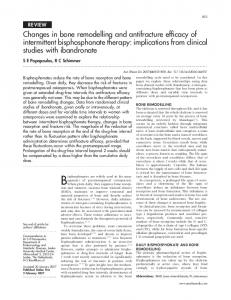 Changes in bone remodelling and antifracture efficacy of intermittent ...