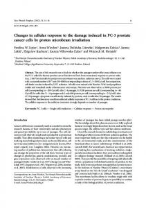 Changes in cellular response to the damage