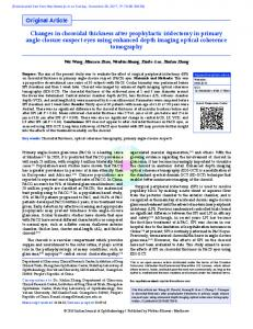 Changes in choroidal thickness after prophylactic iridectomy in ...