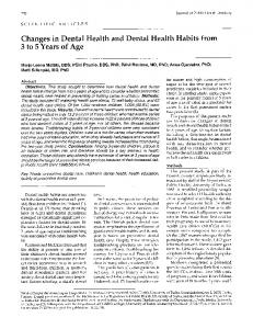 Changes in Dental Health and Dental Health ... - Wiley Online Library