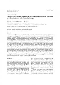Changes in diet and food consumption of largemouth ... - Springer Link