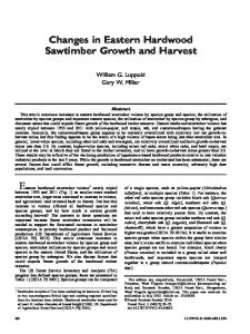 Changes in Eastern Hardwood Sawtimber Growth and Harvest