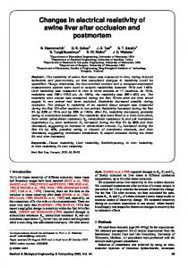 Changes in electrical resistivity of swine liver after ... - Semantic Scholar