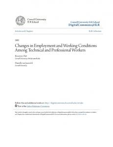 Changes in Employment and Working Conditions ...