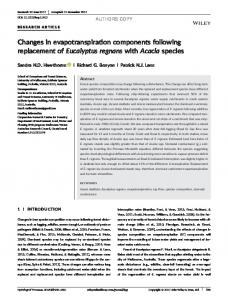 Changes in evapotranspiration components ...