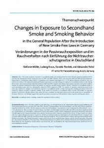 Changes in Exposure to Secondhand Smoke and ... - Hogrefe eContent