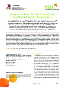 Changes in Fat Intake, Body Fat Composition ... - KoreaMed Synapse