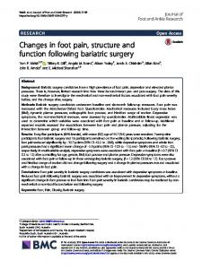 Changes in foot pain, structure and function following bariatric surgery
